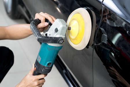Car detailing series : Polishing black car Imagens - 54973867