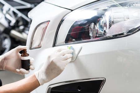 Car polishing series : Glass coating Reklamní fotografie
