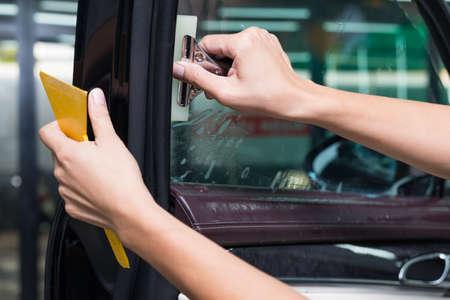 tinted: Car window tinting series Stock Photo