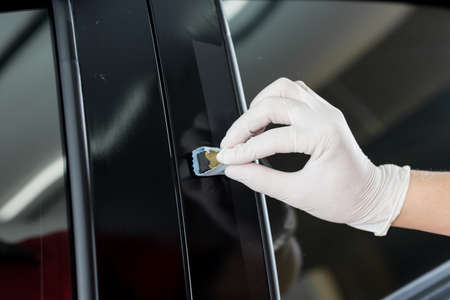 coating: Car polishing series : Glass coating Stock Photo