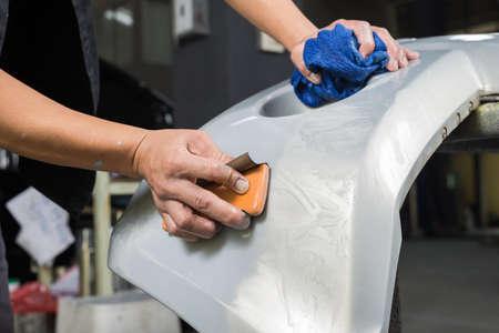 auto repair: Auto body repair series : Sanding paint