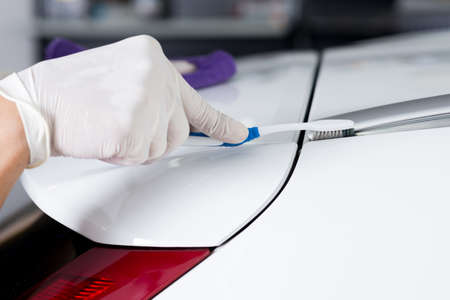 polisher: Car polishing series : Cleaning white car