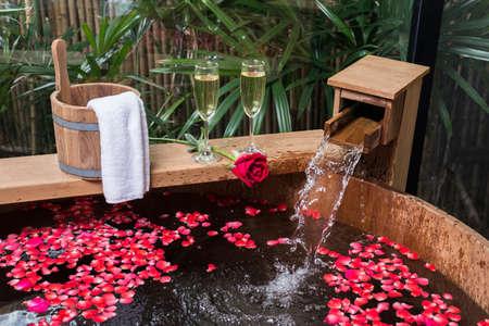 onsen: Onsen series : Love and romance Stock Photo