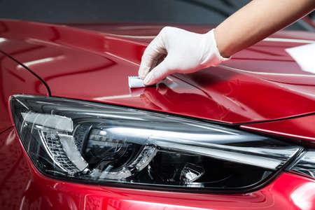 Car polishing series : Glass coating Foto de archivo