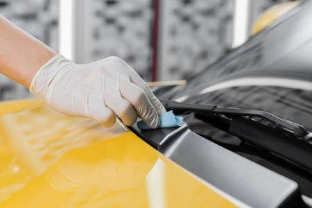 Car detailing series : Glass coating Фото со стока - 54941459