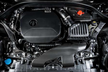 Car detailing series : Clean car engine Stock Photo