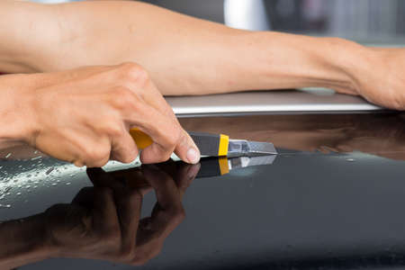 tinted: Car window tinting series : Cutting window film