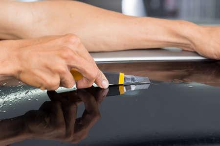 Car window tinting series : Cutting window film