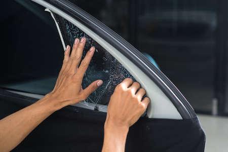tinting: Car window tinting series : Installing car window tint