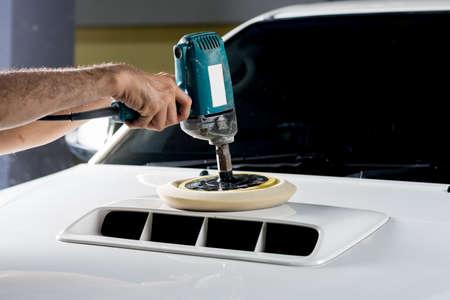 buffing: Car detailing series : Polishing white truck