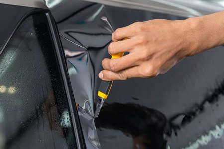 tinting: Car window tinting series : Cutting window film