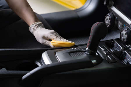 Car detailing series : Cleaning car interior Imagens - 65230664