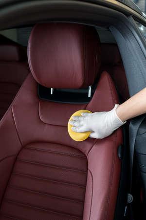 detailing: Car detailing series : Cleaning red car seat