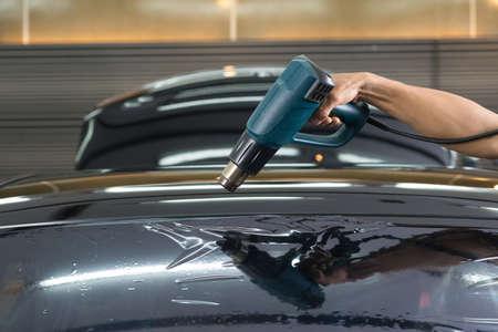 shrinking: Car window tinting series : Heat shrinking window film