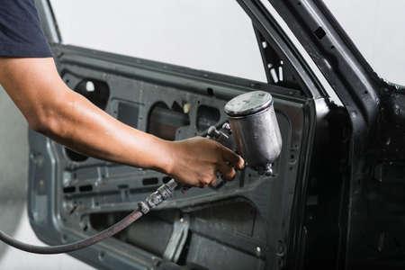 Auto Body Repair Series: Car Interior Painting Stock Photo   83472757