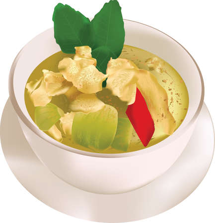 curry: Green Curry With Chicken