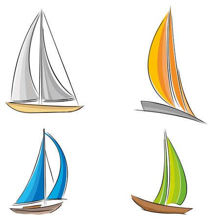 sailling: sailing boat vector