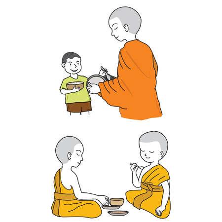 buddhist monk: Buddhist Monk cartoon