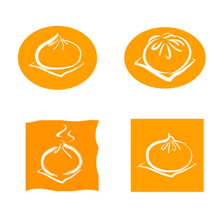 Chinese steamed buns icon.