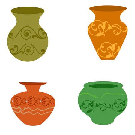Set of vase elements.