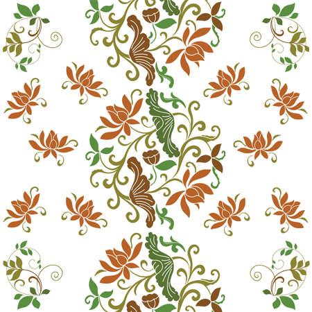 wallpaper old vintage flower 向量圖像