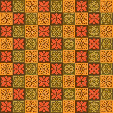 seamless texture mosaic old decorative elements 向量圖像