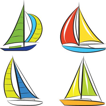 Sailing boats vector 向量圖像