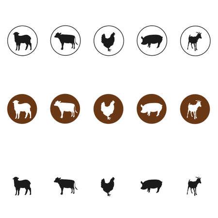 meat food livestock breeding icon 向量圖像