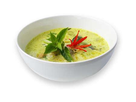 Green curry, Thai traditional and popular food 版權商用圖片