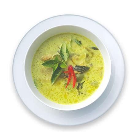 Thai pork green curry isolated, Thai food