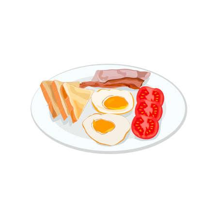 Traditional English Breakfast 向量圖像