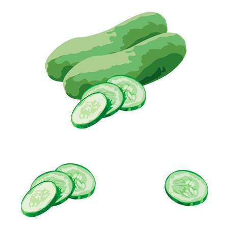 Fresh Cucumber and slice