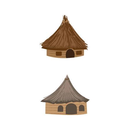dibujo de cabaña de camping