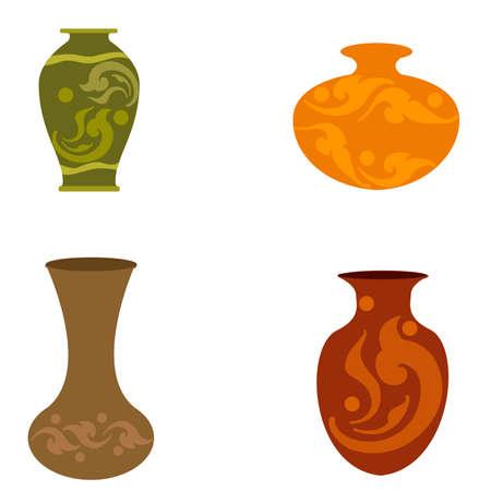 jarrón antiguo de arcilla Ilustración de vector