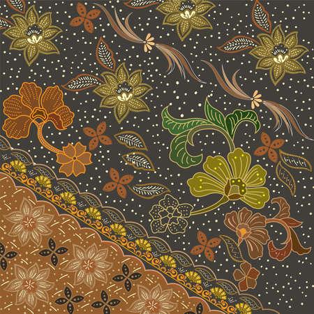 Colorful Batik Cloth Fabric Background