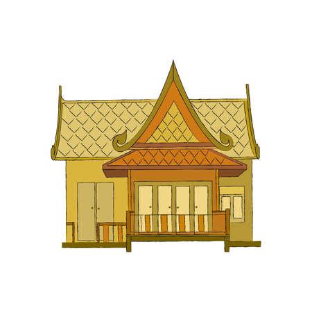 Thai house style 版權商用圖片 - 110629435