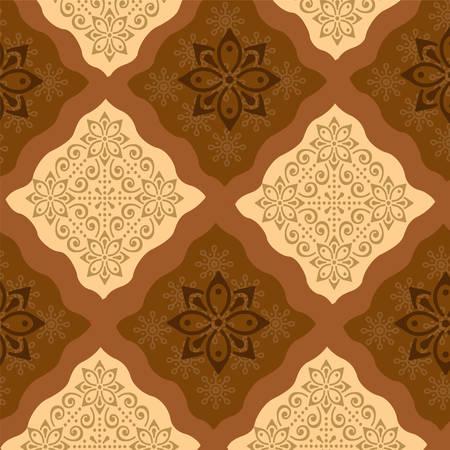 Traditional Batik Sarong Pattern Illustration
