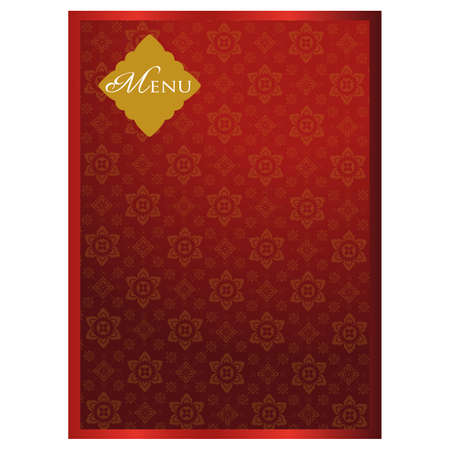 Thai menu background red