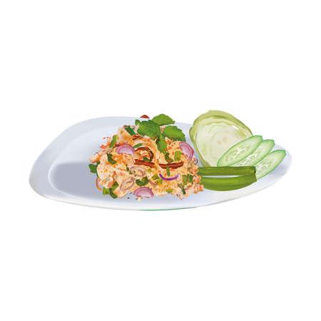 Thai Cuisine Larb Moo Spicy Minced Pork Salad