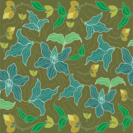 batik sarong background in Thailand, traditional batik