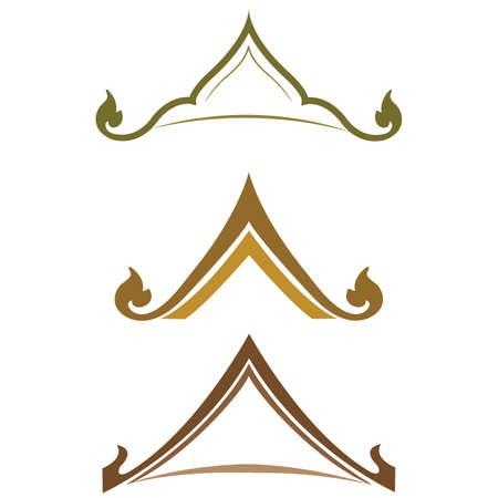 tetto a due falde stile tailandese