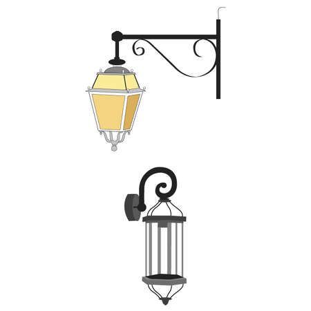 Outdoor light wall lamp lighting 向量圖像
