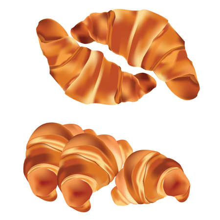 Tasty appetizing croissants