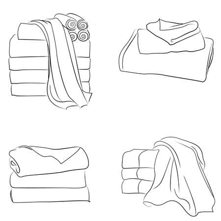 towel collection vector 向量圖像
