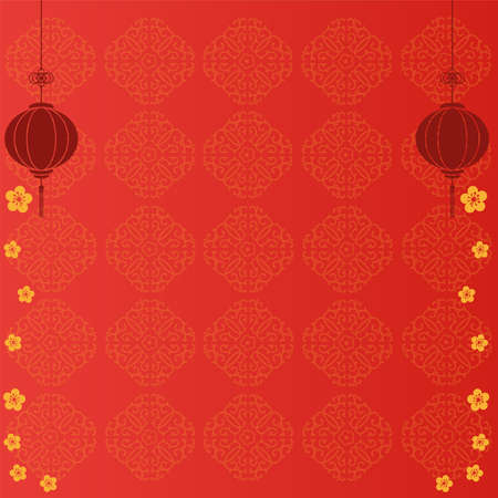 Chinese red Background with element decoration