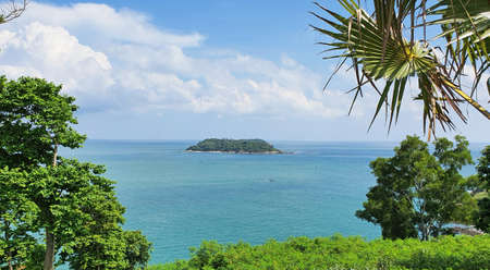 Phuket island view Point of Laem Promthep Cape in Rawai Beach