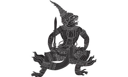 Hanuman silhouette Illustration