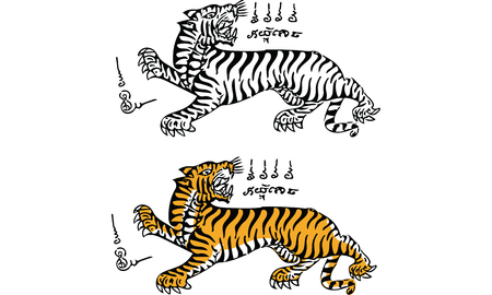 tiger tattoo, thai traditional painting