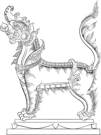 thai tradition tattoo Illustration