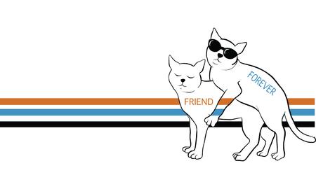 cat vector, t-shirt design
